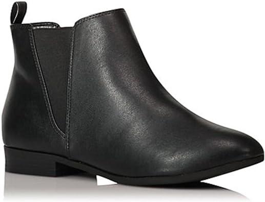 Botas Mujer Tobillo Tacon Botines Bloque Slip on Chelsea Boots Atajo Fiesta Chunky Medio Verano Verano Zapatos Negro Marr/ón Verde Rosa EU35-EU43