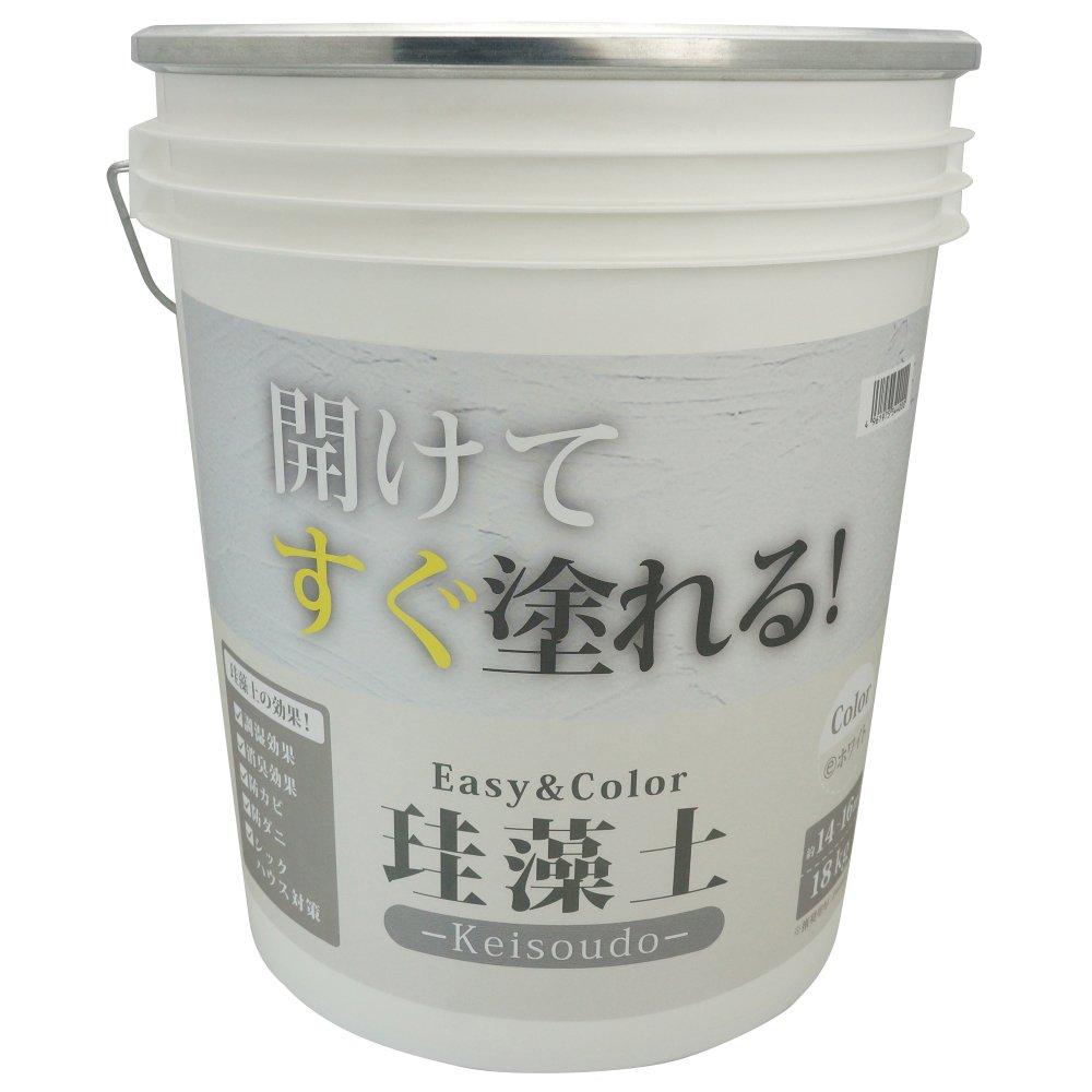 ワンウィル Easy&Color珪藻土 18kg ホワイト 3793060013 B01MYYTAMI ホワイト 18kg
