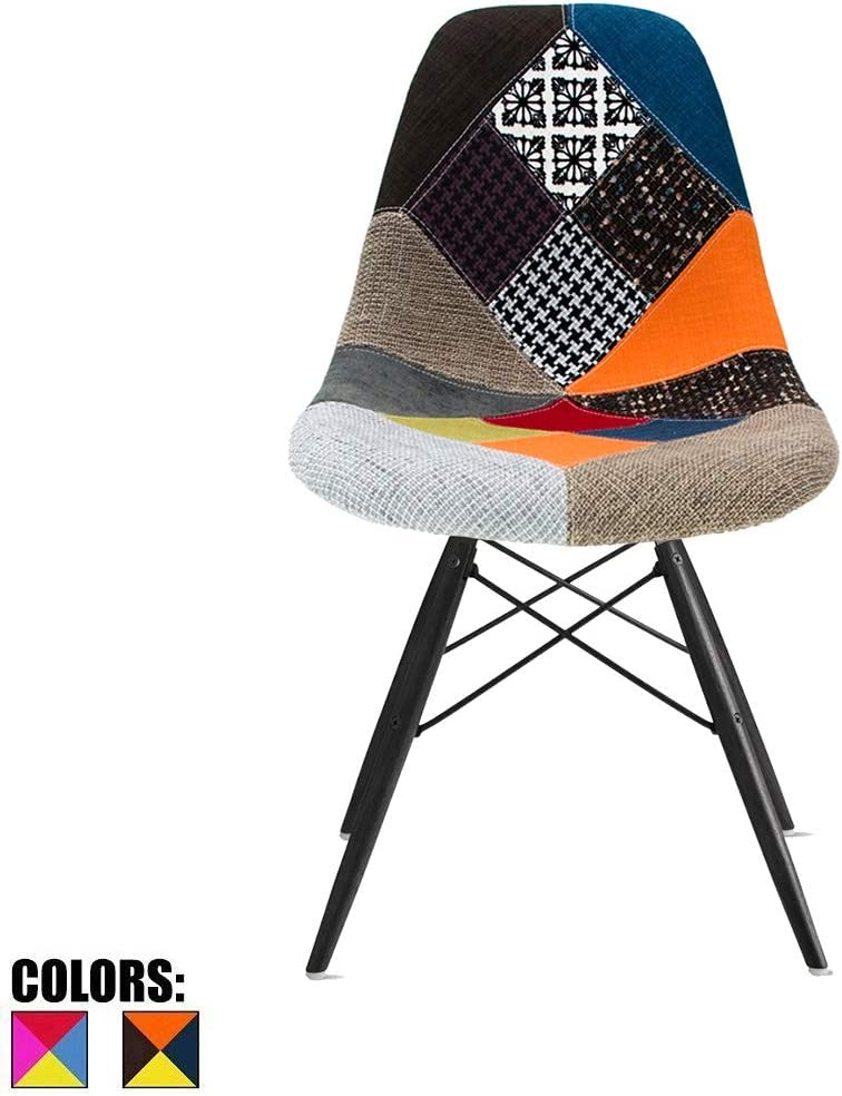 2xHome dining Chair, Patchwork S,1 piece