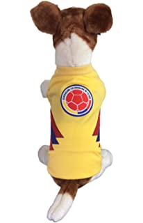 Dog Soccer Jersey Colombia-Pet T-shirt- Made of 100% Polyester-