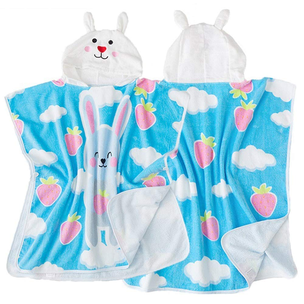 Feeryou Children's Cute Fashion Design Bath Towel Quick Dry Beach Towel Surf Poncho Large Size Bath Towel Hooded Bath Towel Suitable for Boys/Girls Super Strong
