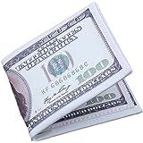 Tonsee Men US Dollar Bill Wallet Bifold PU Leather Credit Card Photo Holder Purse
