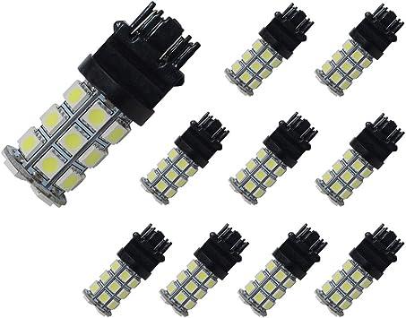 4 pcs  super white 6SMD 5050SMD  High quality  3-chips LED LIGHT BULB 3156 3157
