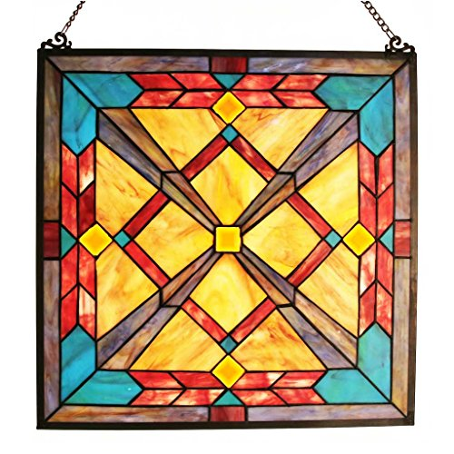 ained Glass Southwest Sunset Window Panel ()