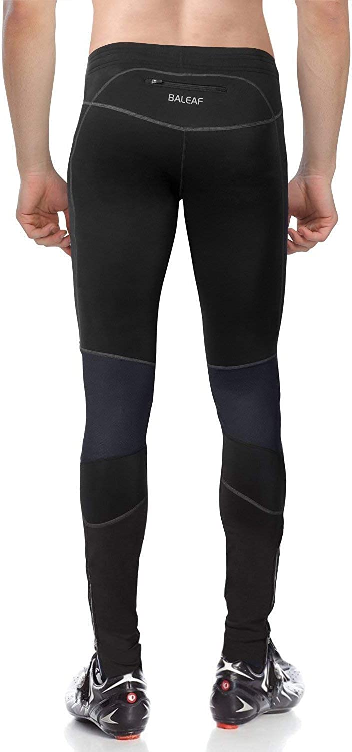 BALEAF Mens Thermal Running Cycling Tights Athletic Outdoor Compression Pants for Bike