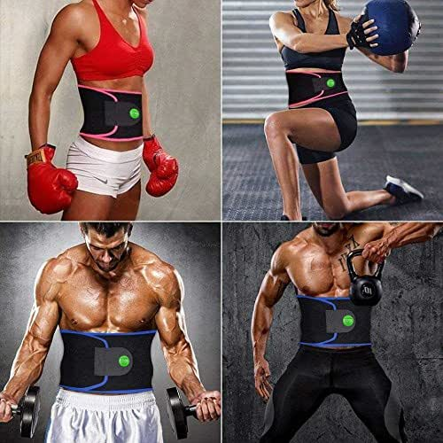 Cosi Fashion Waist Trimmer Belt Stomach Fat Burner Ab Belt for Women & Men Body Shape Brace Workout Waist Trainer for Fitness Weight Loss Specifically Designed
