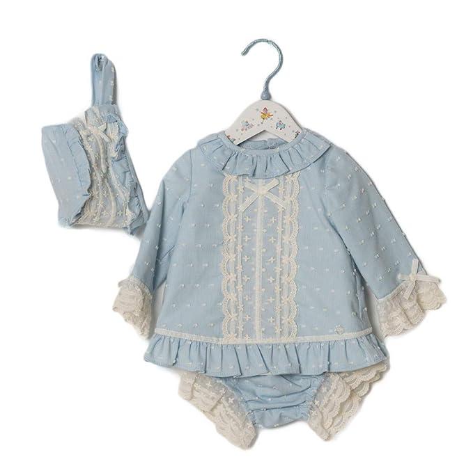 DOLCE PETIT - Vestido Ceremonia BEBÉ bebé-niños Color: Celeste Talla: 1M