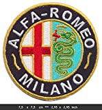 auto alfa romeo - Alfa Romeo Milano Iron Sew On Cotton Patches Auto cars Spider Giulietta Italy by RSPS Embroidery n Decals
