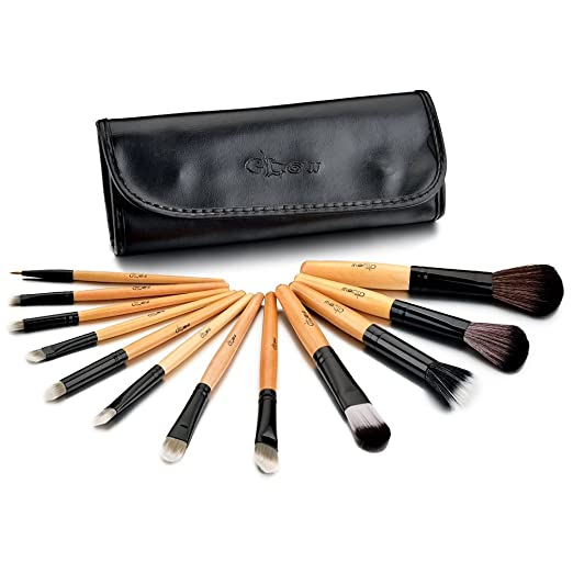 169 opinioni per Glow 12 PC professionale pennelli trucco fissati (Wooden Handle Black Case)