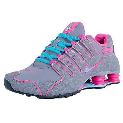 classic fit 3fd19 f8d94 Nike Women s Shox NZ Charcoal Gamma Blue Black Pink Foil 636088 002 Size 6.5