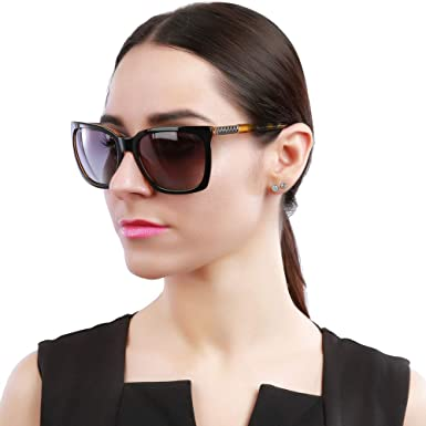 fa7371a26f70 Amazon.com  BRUWEN Vintage Sunglasses for Women Polarized Uv ...
