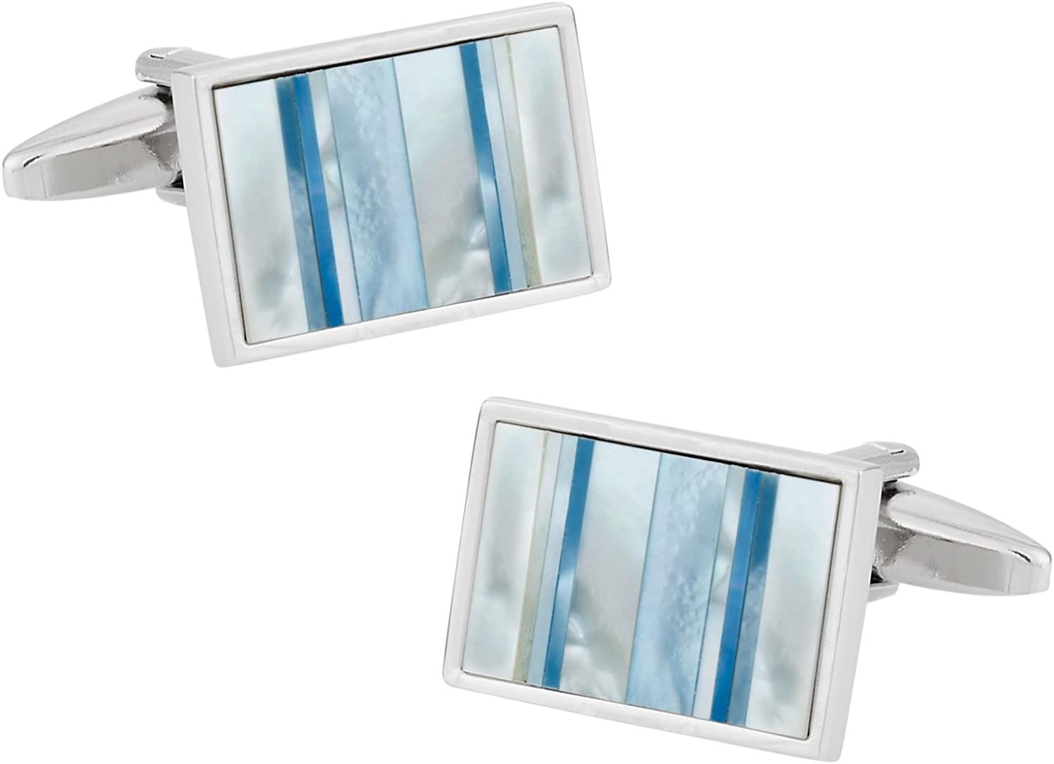 Cuff-Daddy Ocean Blue Mother of Pearl Cufflinks with Presentation Box
