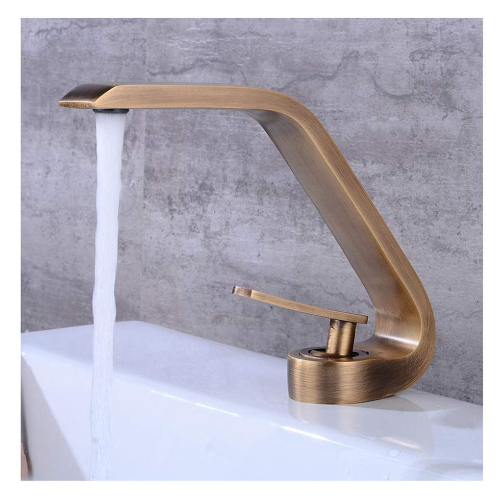 ASHENG Kitchen Sink Taps Modern,Premium 304 Stainless Steel Body Single Lever Hot And Cold Water Kitchen Faucet For Home Facilities