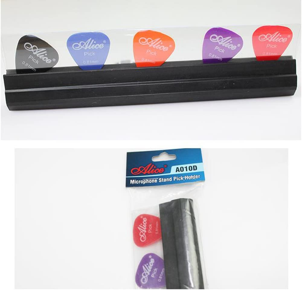 Timiy Microphone Music Stand Rubber Guitar Stand Pickholder With 5 Picks
