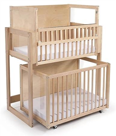 Amazon.com: Ahorro de espacio nivel de dos cuna: Baby