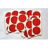 50 Adesivi Rotondi - Adesivo Etichette Autoadesive A Colori per Colore Codifica - Rosso