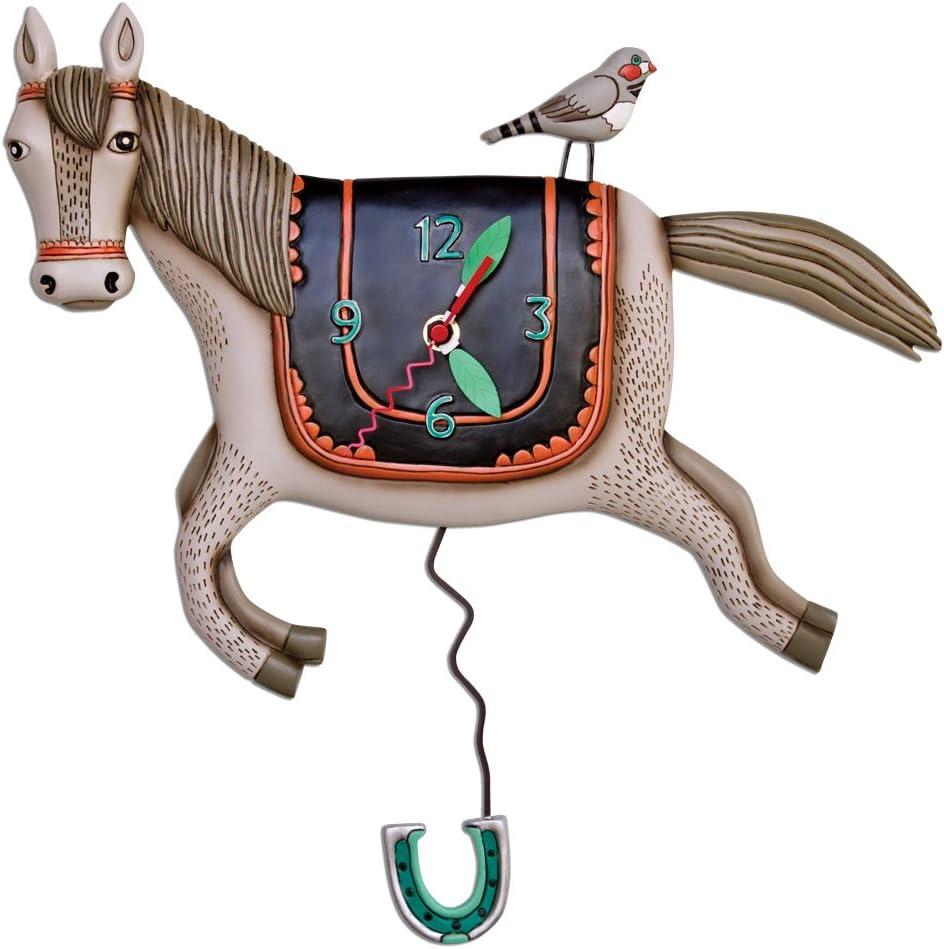 Allen Designs Woah Horse Pendulum Clock