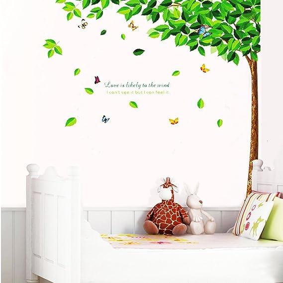 Amazon.com: V-Vitoria® New PVC 3D Creative Green Tall Tree ...