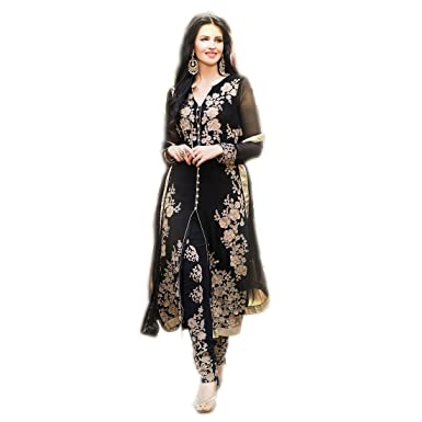 70d043be19d Snapdeal Women's Arzan salwar suit dupatta Black Semi-stitched Dress  Matarial (ARZAN_BLACK_1): Amazon.in: Clothing & Accessories