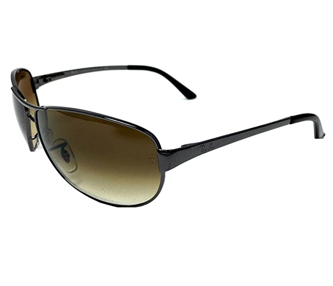 400bfe948e0 Image Unavailable. Image not available for. Colour  Ray Ban Warrior RB3342  004 51 Gunmetal Crystal Brown Gradient 60mm Sunglasses