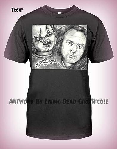 amazon com portrait t shirt friends til the end brad dourif