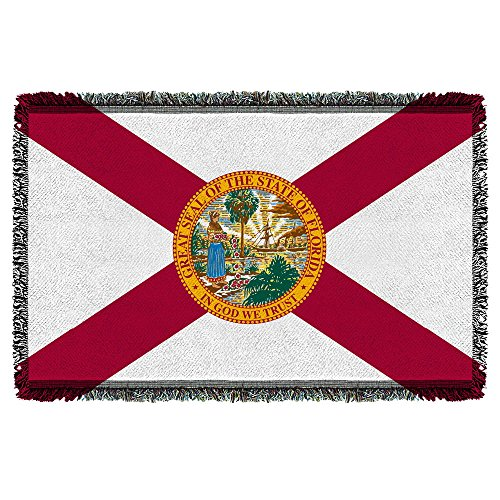 Florida State Flag -- Woven Throw Blanket Tapestry ()