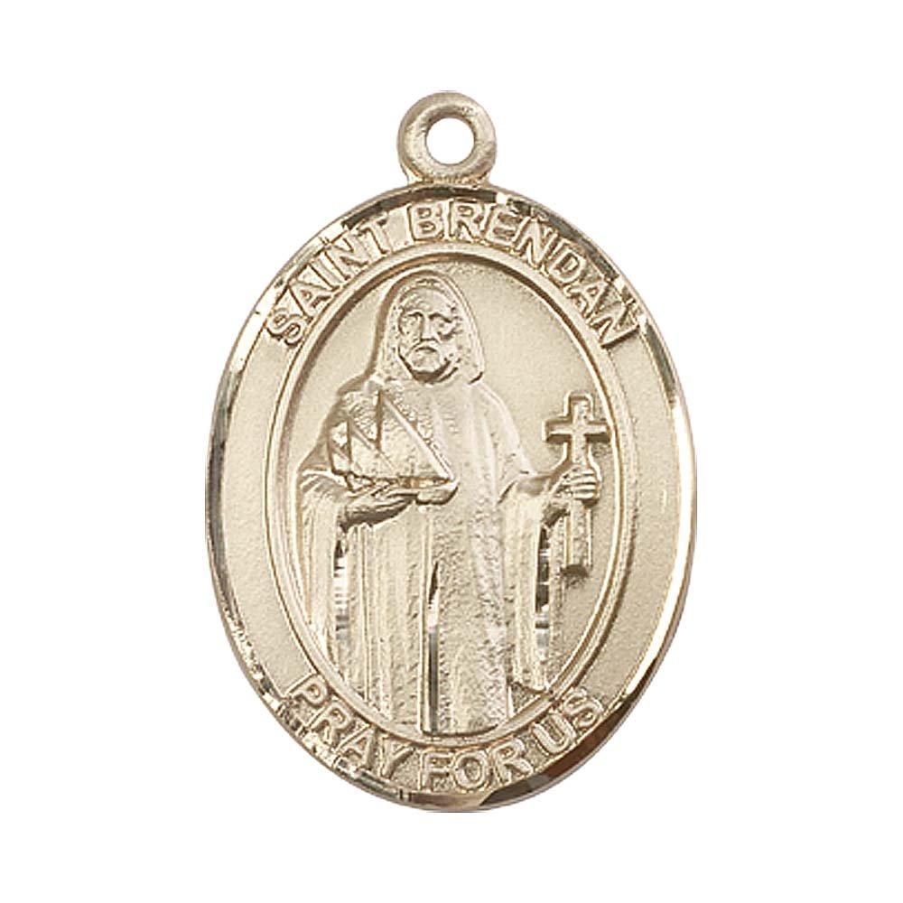 14kt Gold St. Brendan the Navigator Medal. Patron Saint of Sailors/Mariners