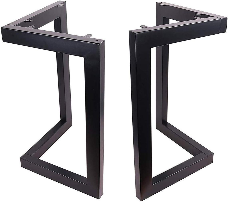 25cm-10mm-Pata de mueble 4 Patas de la mesa Hairpin Patas a Horquilla Para Mesa de Acero Robustas Con Tornillos y Bases Protectoras