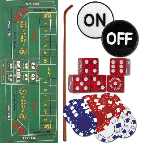Trademark Craps Set - All The Pieces To Play Now Craps Set, Multi by Trademark Global