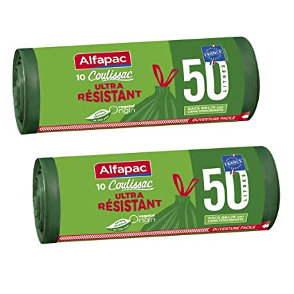 Alfapac - Bolsas de basura con asas de origen vegetal con ...
