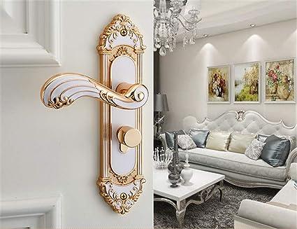 Ztzt Ivory White Interior Door Lock Bedroom Door Lock Three Piece