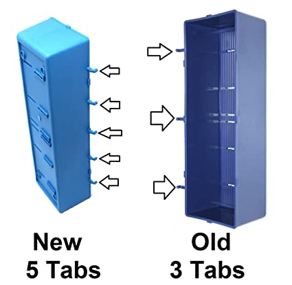 New Improved BLUE Parts Storage Bins Hooks To Peg Tool Board   Workbench