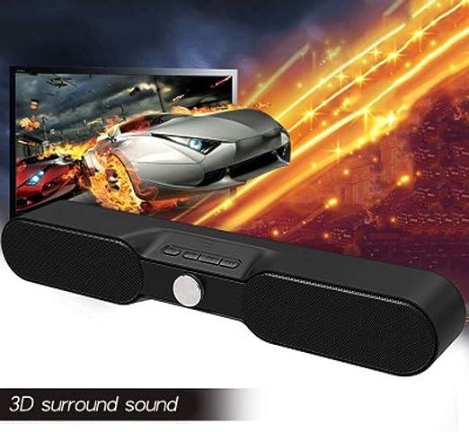 WHCCL Barra de Sonido, Altavoces Bluetooth portátiles de Dos Altavoces,para TV, PC, teléfono Celular, tabletas, proyector: Amazon.es: Hogar