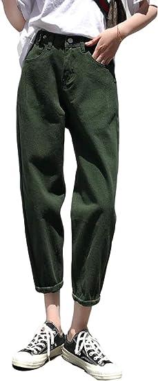 Alppv レディース ジーンズ ハイウエスト カジュアル デニムパンツ 着痩せ レディース 美脚 ズボン ジーパン ストレート オシャレ シンプル 白 ハロンパンツ ゆったり 秋 冬 無地