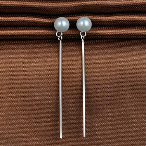 e5049e3a7651 Lovely Infinite U de moda plata de ley 925 perlas pendientes borla gotas  DIY pendientes para