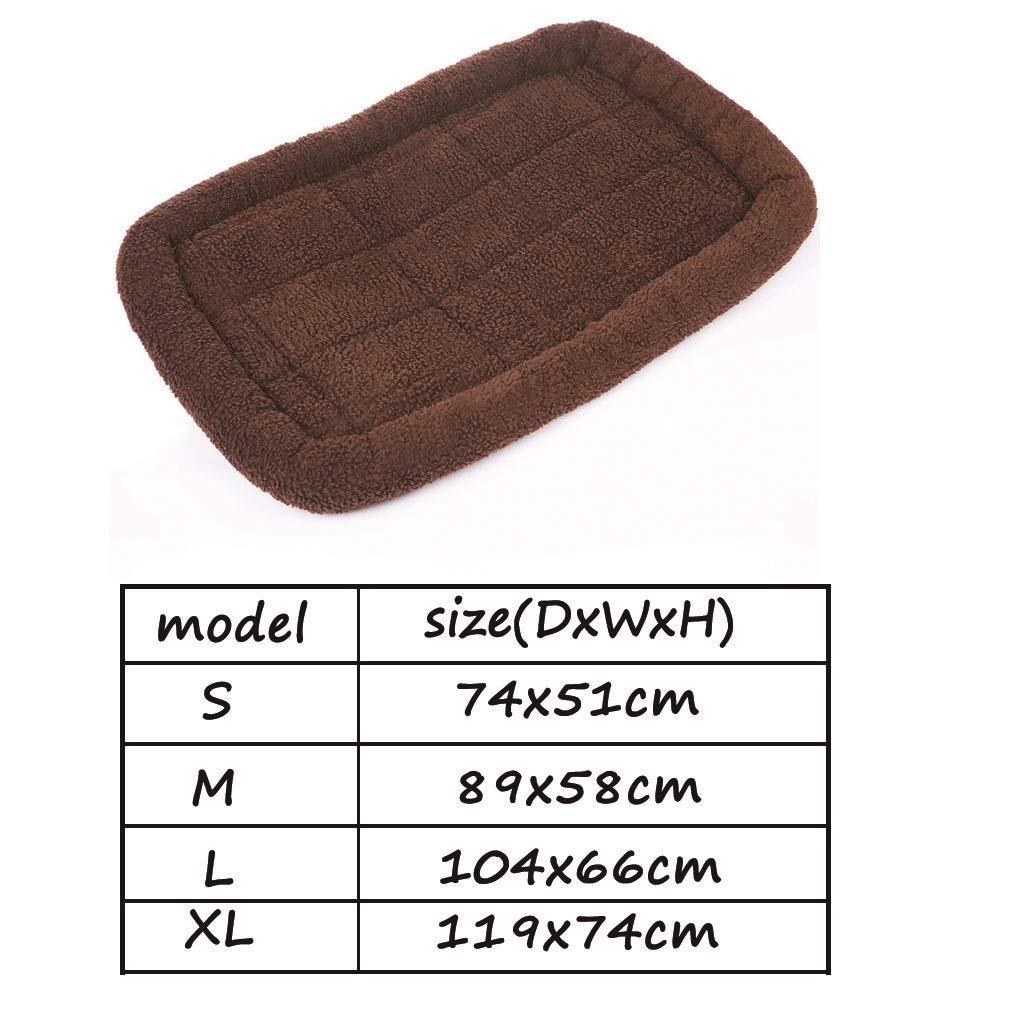 119cm Camas Mochila Cama para mascotas acolchada de piel de oveja resistente al desgaste Dirt Dog Cage Mat Suministros para mascotas Super grande 74//89//104 Tama/ño : 104cm