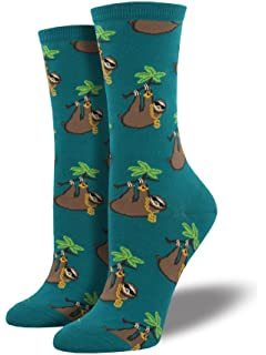 30362ee990702 Amazon.com: ModSocks Women's Sloth Stripe Crew Socks in Navy (Fits ...