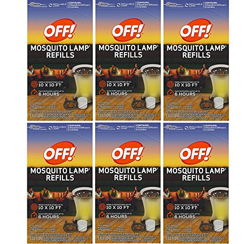 Mosquito Lamp Refill - S C JOHNSON WAX 76086 Off Mosquito Lamp Refill, 2-Pack (6 Box)