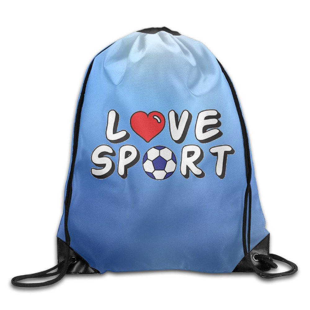 Love-sport Lightweight Drawstring Bag Sport Gym Backpack Gym Bag For Men And Women