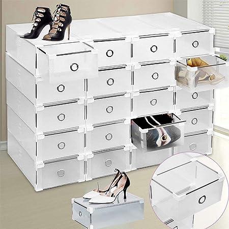 Caja de zapatos, Almacenamiento de zapatos, Caja de almacenamiento de zapatos 8PCS Cajas de zapatos plegables y apilables,mujeres / hombres resistente Cajones de estilo fácil de almacenar zapatos: Amazon.es: Juguetes y juegos