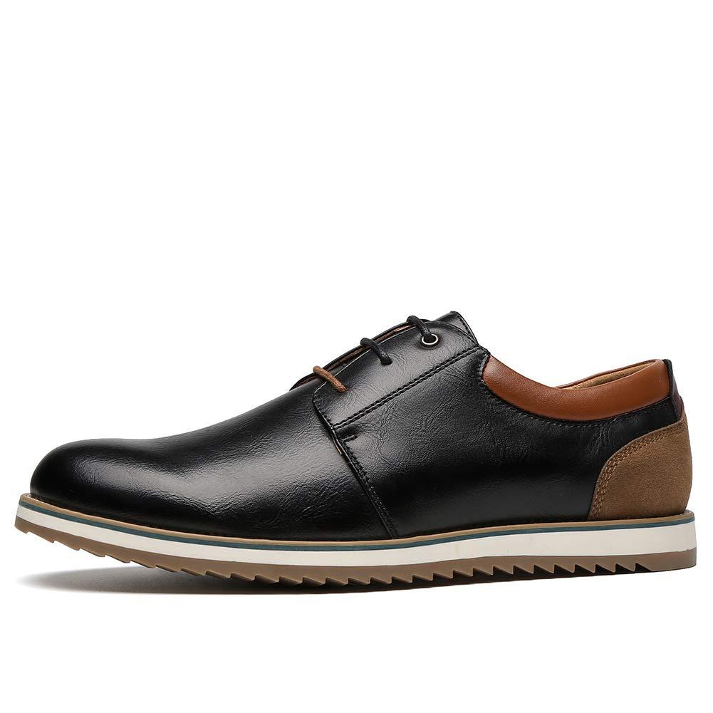 6fbb70d1 Zapatos Comodos Oxford de Cordones para Hombre - Zapatos Formal Derby Cuero  de Imitación Hombre, Conveniente para Todas Las Estaciones: Amazon.es:  Zapatos y ...