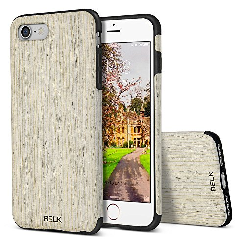 Iphone 8 Case Iphone 7 Case  Belk  Air To Beat  Non Slip Soft Wood Slim Bumper  Scratch Resistant Grip Ultra Light Tpu Snap Back Cover With Rubber Corner For Apple Iphone 7 Iphone 8