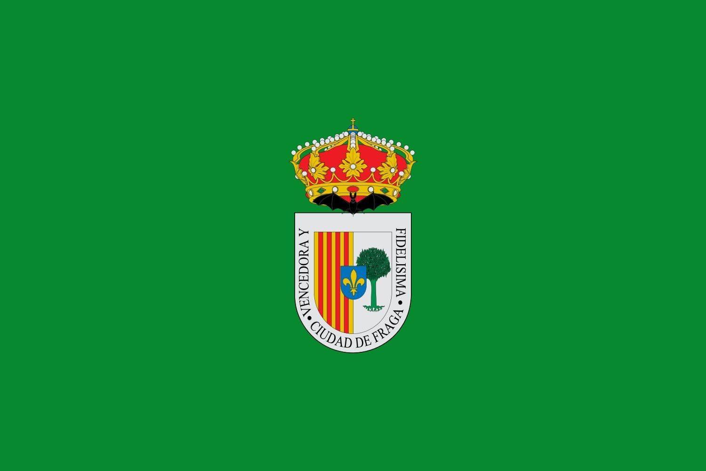 en Huesca Espa/ña Bandera Bandera Paisaje 20x30cm Banderas de Coche DIPLOMAT-FLAGS Fraga 0.06m/²