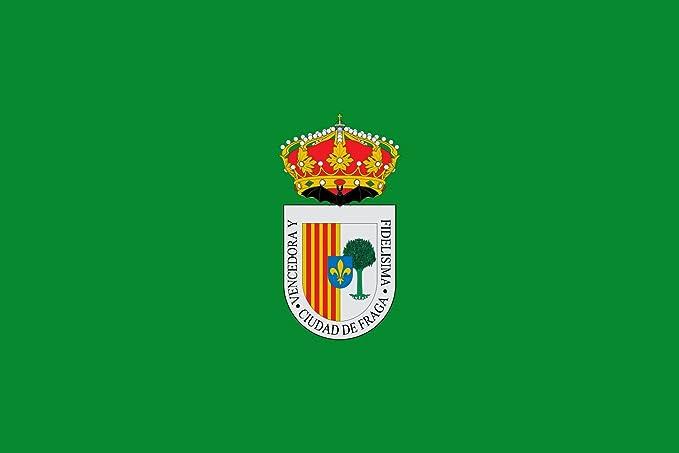 DIPLOMAT-FLAGS Fraga, en Huesca España Bandera | Bandera Paisaje | 0.06m² | 20x30cm Banderas de Coche: Amazon.es: Jardín