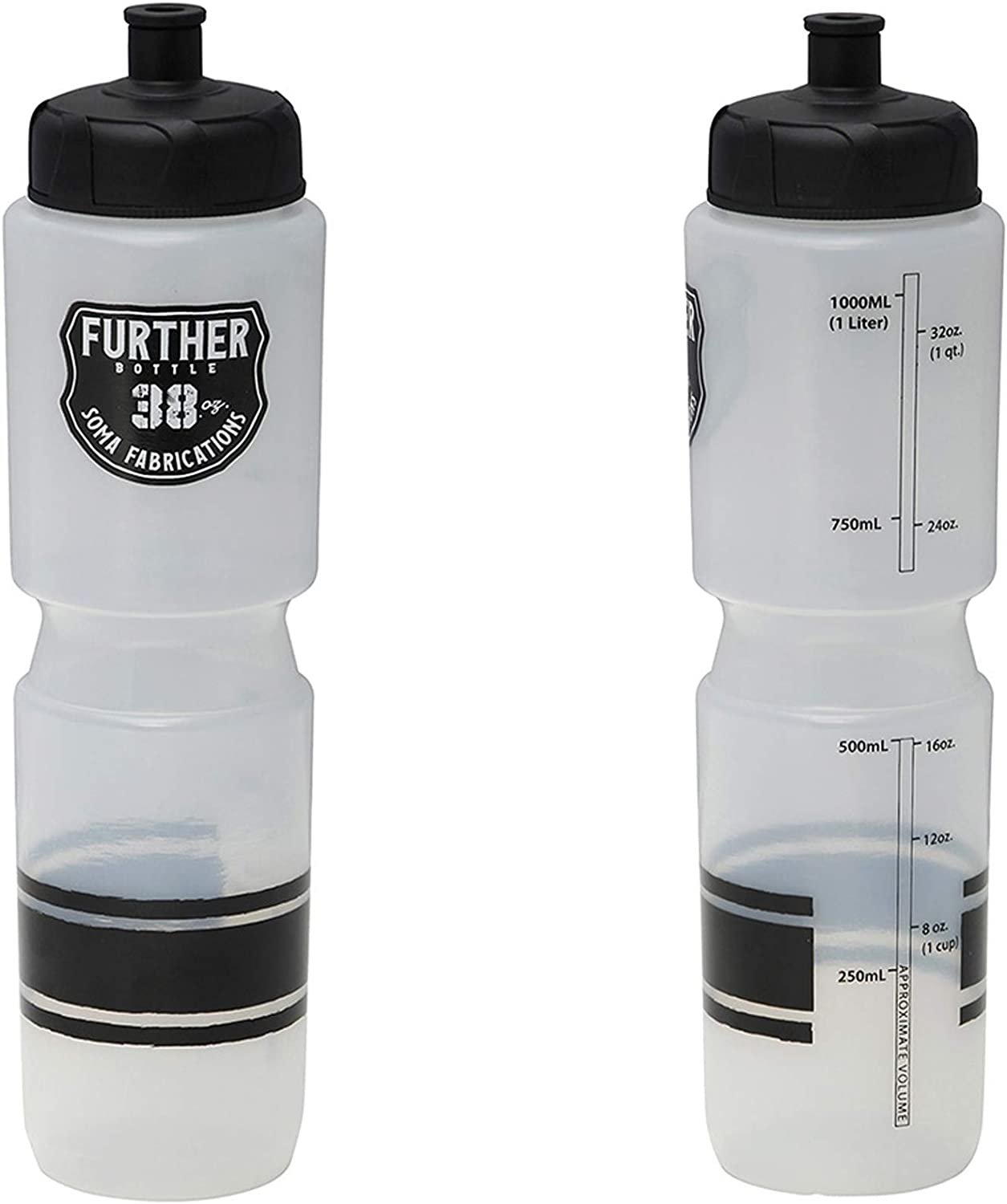 Soma Further 38oz Water Bottle Clear//Black