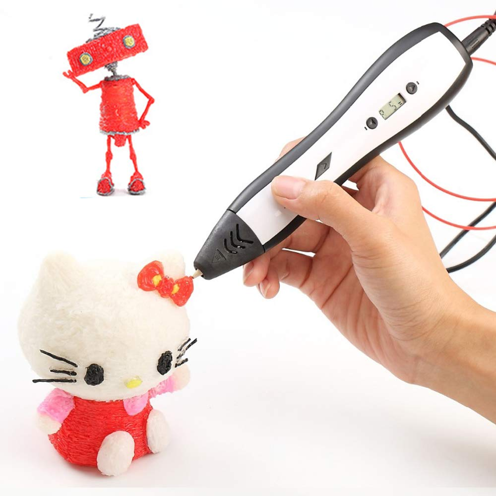 NINI Kinder 3D-Print Pen Graffiti Pen Adjustable Temperatur OLED Display Brush