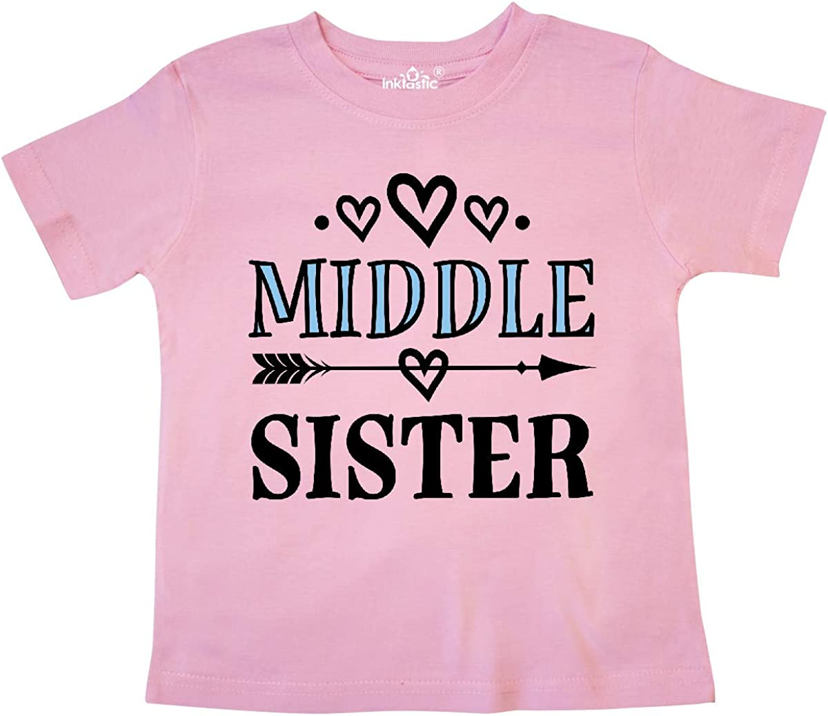inktastic Middle Sister Gift for Girls Toddler T-Shirt