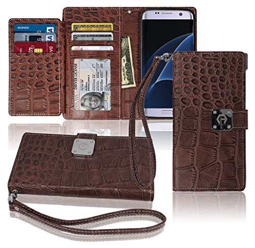 s7-edge-wallet-case-matt-8-pockets-7-id-credit-card-1-cash-slot-power-magnetic-clip-with-wrist-strap