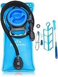 Bergcamp Trinkblase & Reinigungsset - Wasserdichte Blase ideal für den Rucksack zum Wandern, Campen oder Radfahren - geschmacklos, große Öffnung, Trinksystem Outdoor