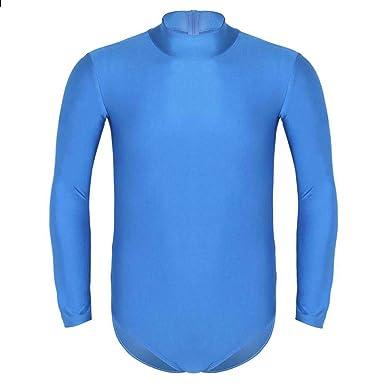 Agoky Herren Unterhemd Schwarz Langarm Shirt Top Overall Body Einteiler  Unterwäsche Männerbody Streche Bodysuit Fitness Sportwear 6ef2a1751a